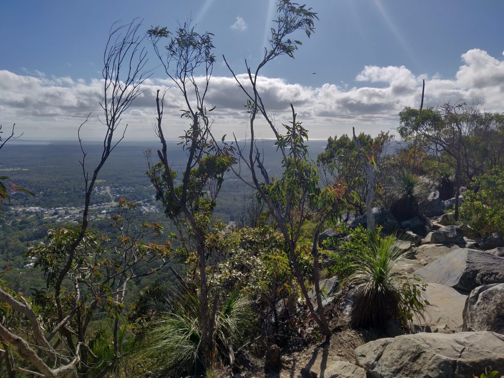 Pomona and Noosa from Mt Cooroora