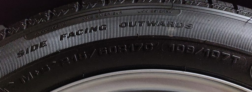 Goodyear tyre size